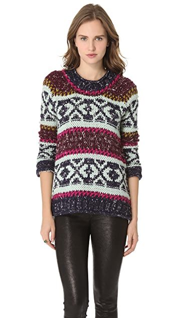 Free People Silver Reed Pullover