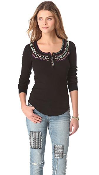 Free People Money Makey Thermal Top