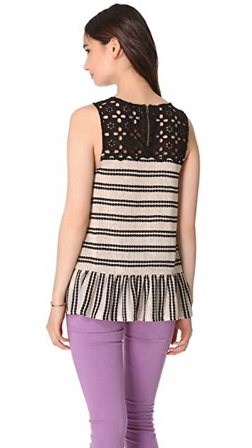 Free People Molly's Retro Peplum Top