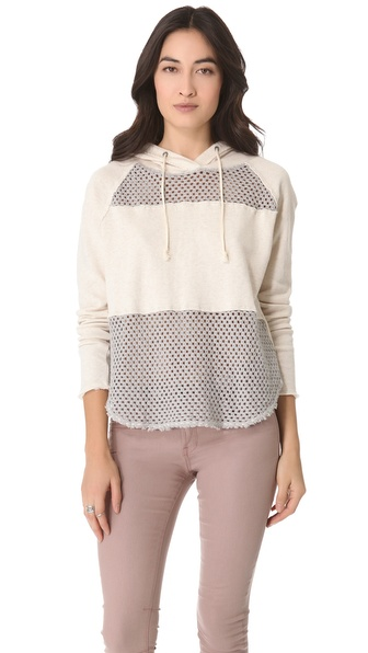 Free People Mesh Panel Hoodie