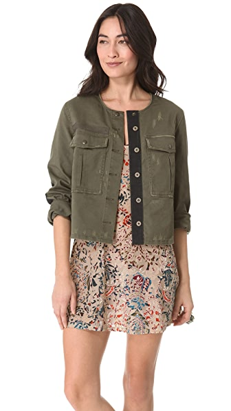 Free People Military Jacket