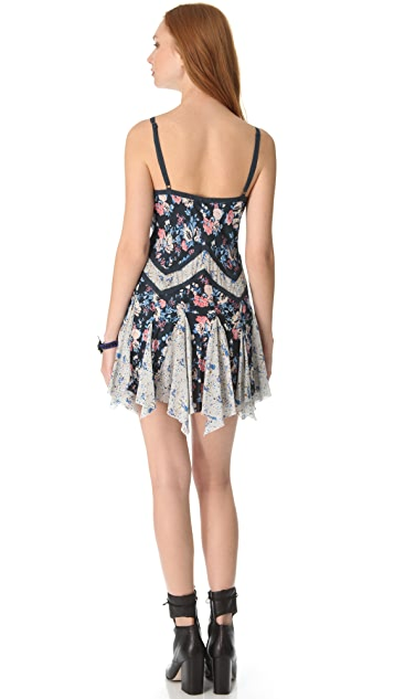 Free People Mixed Printed Pieced Slip