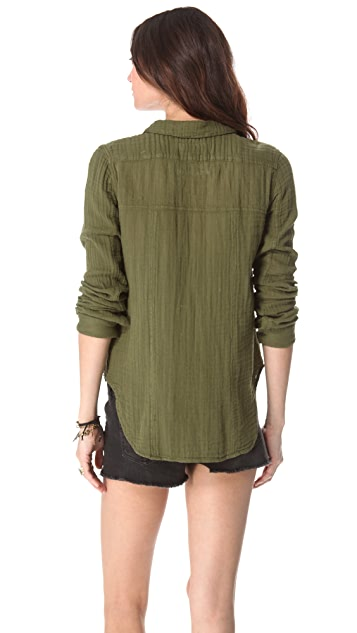 Free People Tried and True Button Blouse