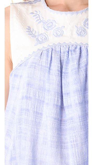Free People Crinkle Strawberry Fields Dress
