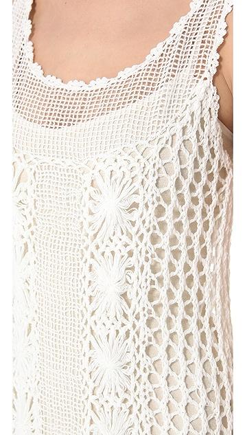 Free People Crochet Slip Dress
