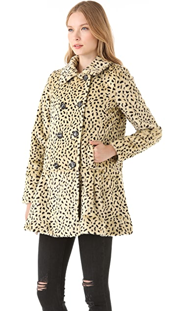 Free People Faux Fur Cheetah Coat