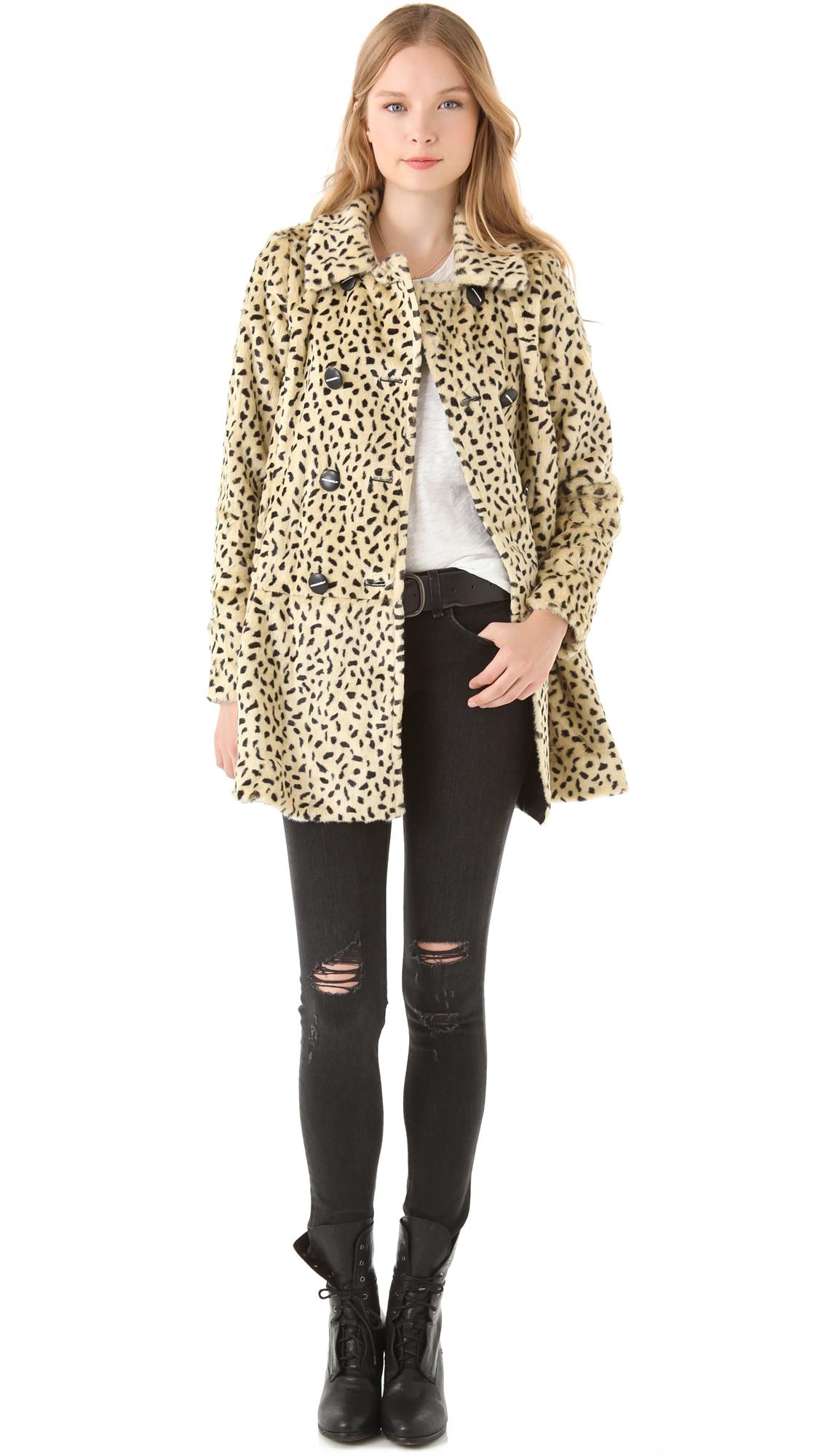 0d7a22e23316 Free People Faux Fur Cheetah Coat | SHOPBOP