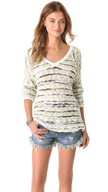 Free People Marled Songbird Pullover