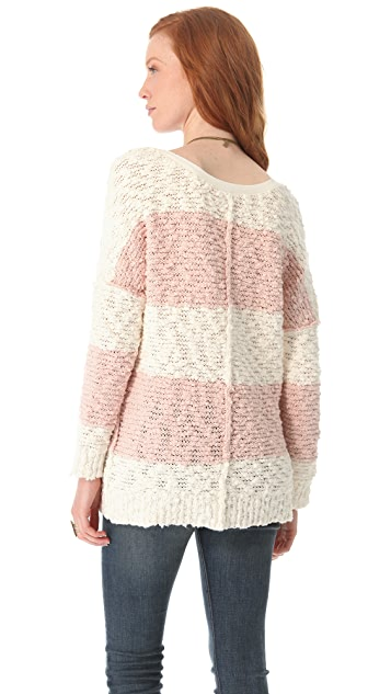 Free People Rugby Stripe Songbird Pullover