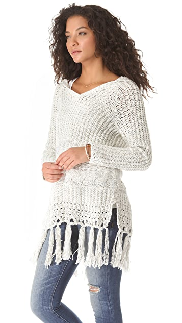 Free People Santa Rosa Hooded Sweater