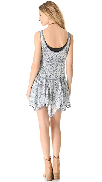 Free People Printed Slip Dress
