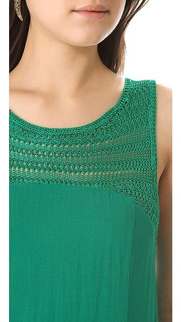 Free People Long Tiered Crochet Dress
