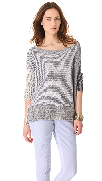 Free People I'm Cool With Stripes Pullover