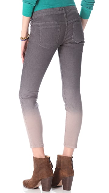Free People Ombre Cropped Skinny Jeans