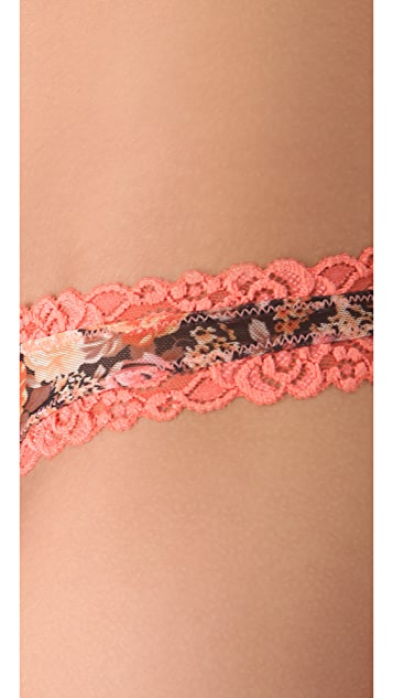 Free People Floral Thong