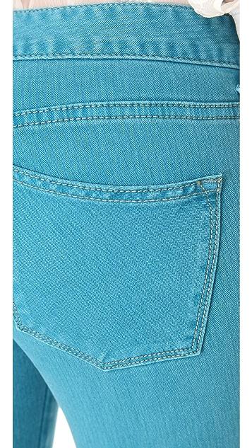 Free People Herringbone Crop Skinny Jeans