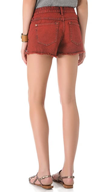 Free People Overdyed Cutoff Denim Shorts