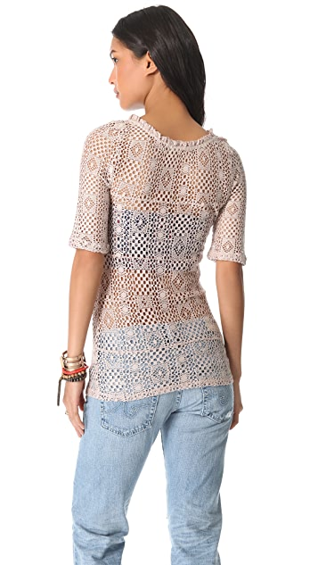 Free People Geolace Top