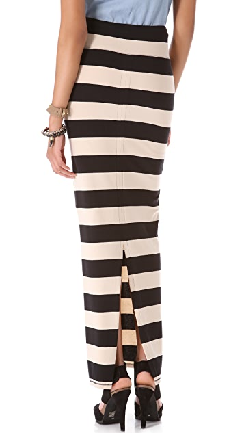 Free People Stripe Column Skirt