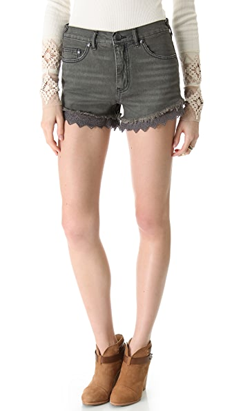 Free People Lace Cutoff Shorts