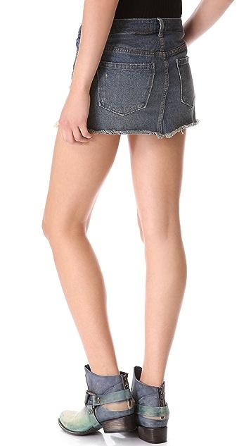 Free People Handkerchief Inset Skirt