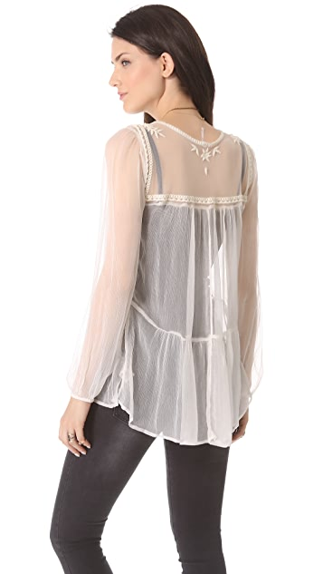 Free People Airy Meadow Top
