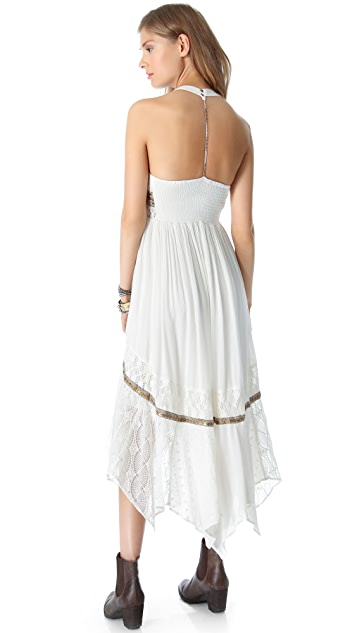 Free People Indian Summer Halter Dress