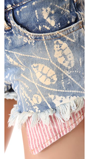 Free People Shibori Cutoff Shorts