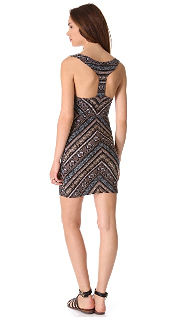 Free People Body Con Cutout Slip Dress