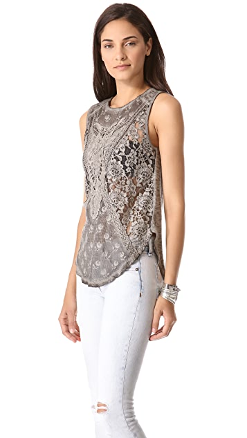 Free People Not So Sweet Victorian Top