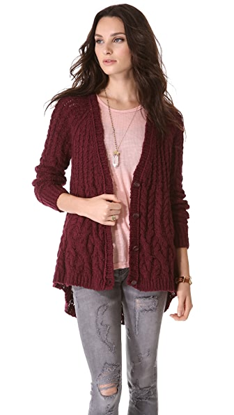 Free People Fable Yarn Cardigan