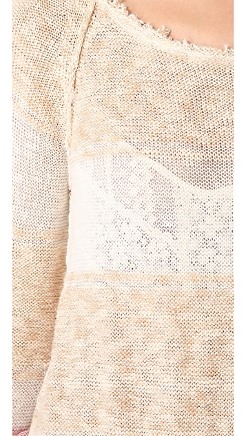 Free People Block of Stripes Pullover