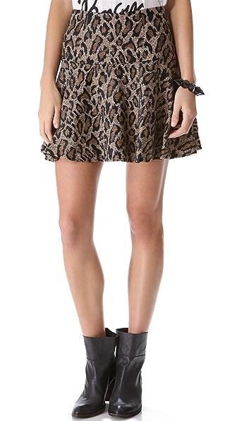 Free People Chenille Cheetah Skirt