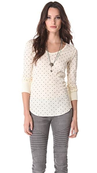 Free People Printed Desperate Thermal Top