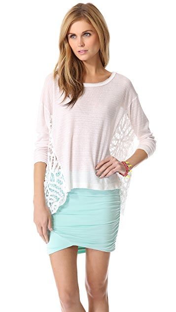 Free People Striped Love Me Do Pullover