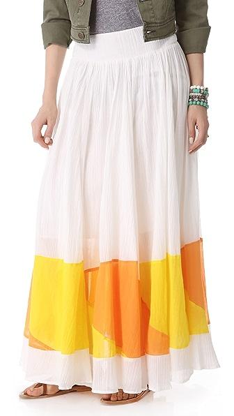 Free People Sheer Colorblock Skirt