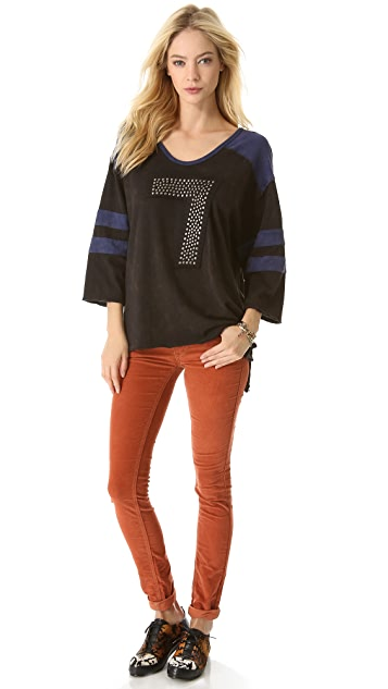 Free People Sporty Bling Tee