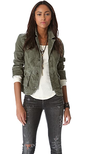 Free People Back Twill Jacket