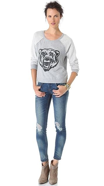 Free People Big Bad Varsity Sweatshirt