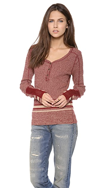 Free People Sock Monkey Pullover