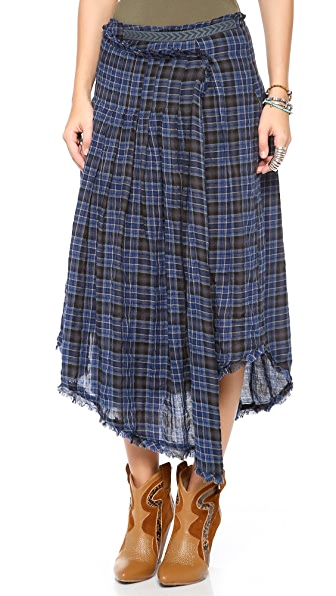 Free People Tartan Skirt