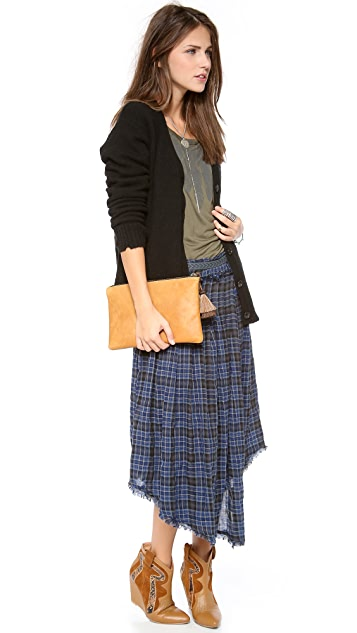 Free People Tartan Skirt