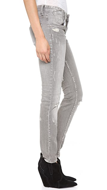 Free People Destroyed Relaxed Skinny Jeans