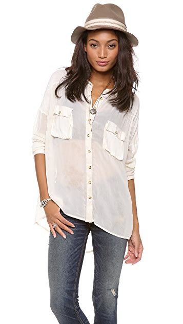 Free People Hard Day's Night Top