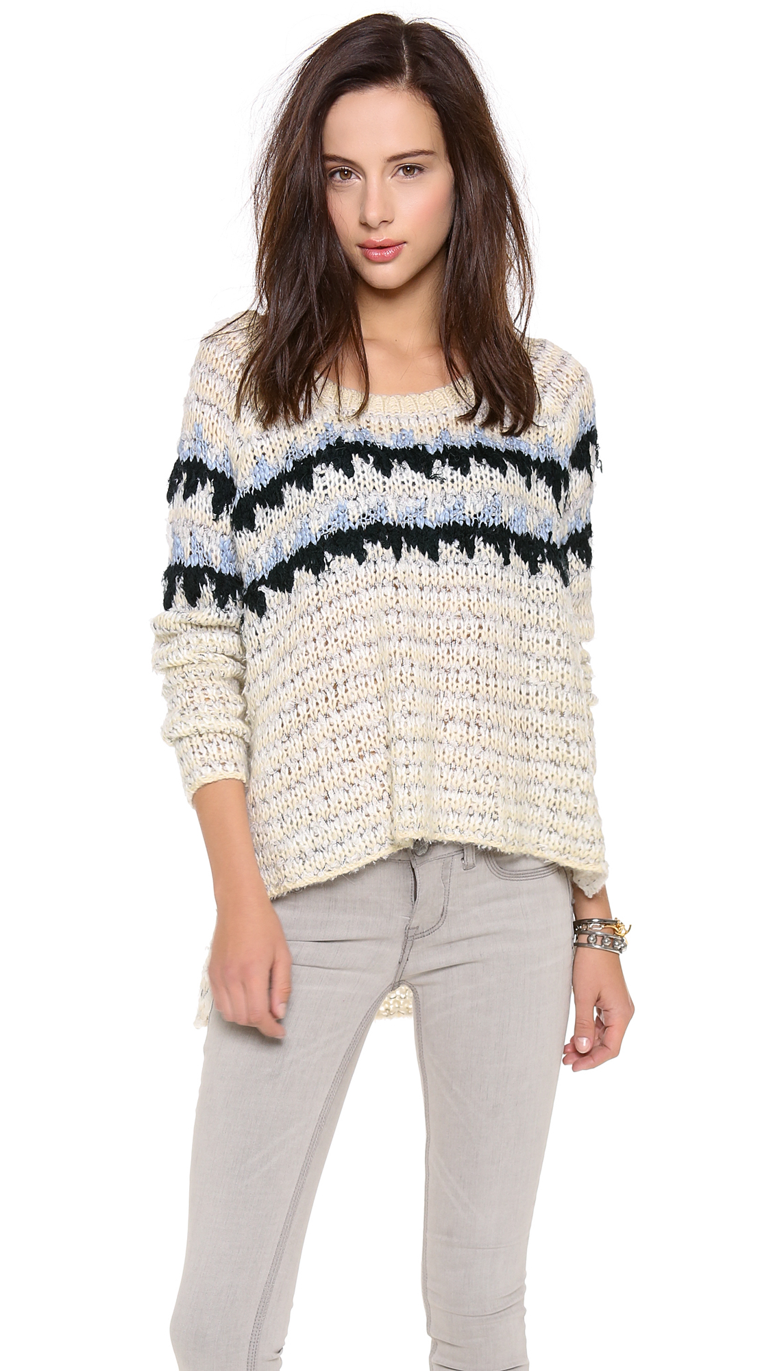 Free People Fuzzy Fair Isle Pullover | SHOPBOP