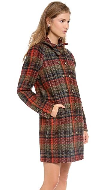 Free People Plaid Wool Coat
