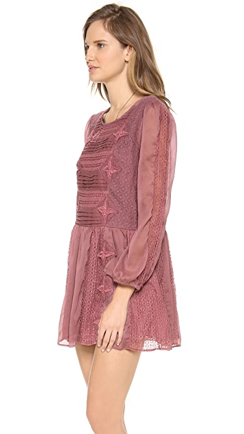 Free People Leigh Long Sleeve Lace Dress