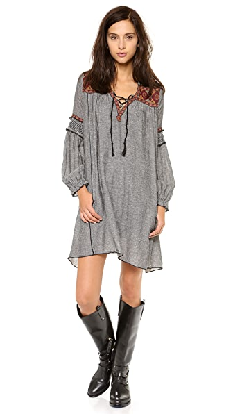 Free People Florence Embroidered Dress
