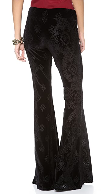 Free People Engineers Burnout Velour Flare Pants