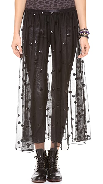 Free People Polka Dot Sequin Mesh Half Slip